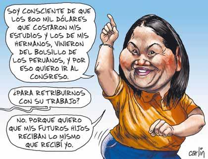 No a Keiko.! Hija de ladrón y dictador. Elecciones 2011